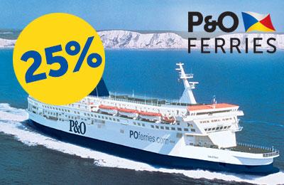 25% de réduction sur les traversées Calais-Douvres!